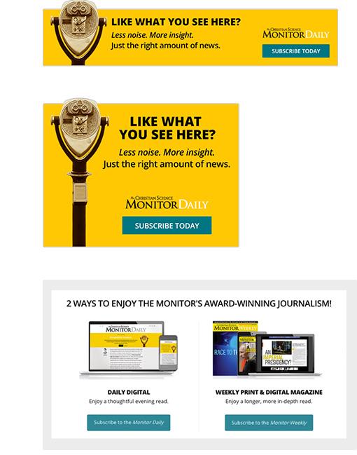 CSM Website Banner Ads
