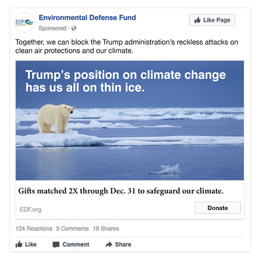 Environmental Defense Fund Facebook Ad, concept 2