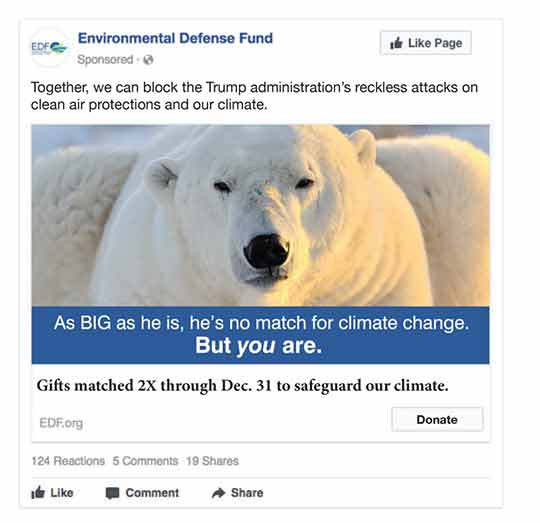 Environmental Defense Fund Facebook Ad, concept 4
