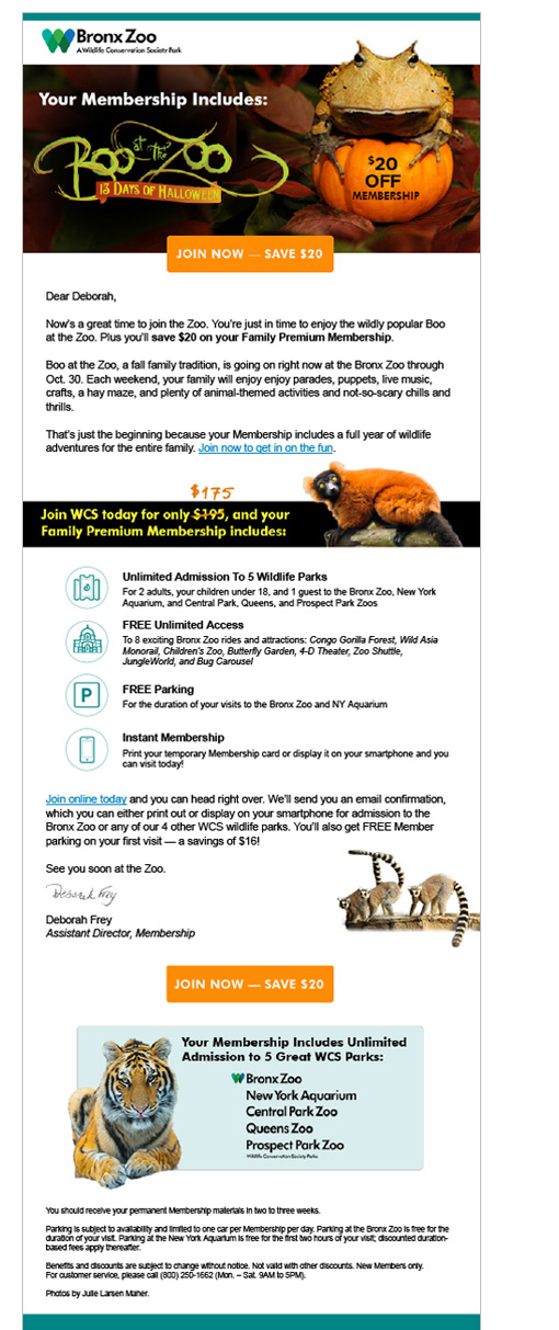 Boo at the Zoo email