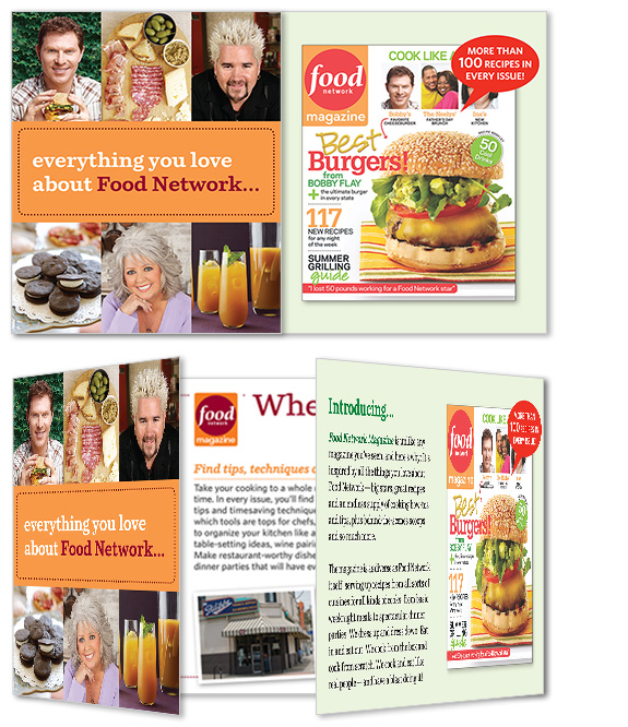 Food Network Magazine brochure