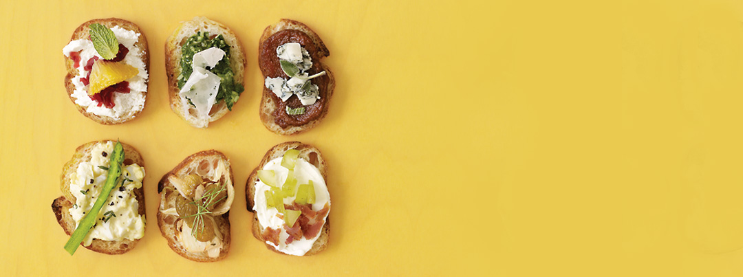 Food Network Magazine - open faced sandwiches closeup