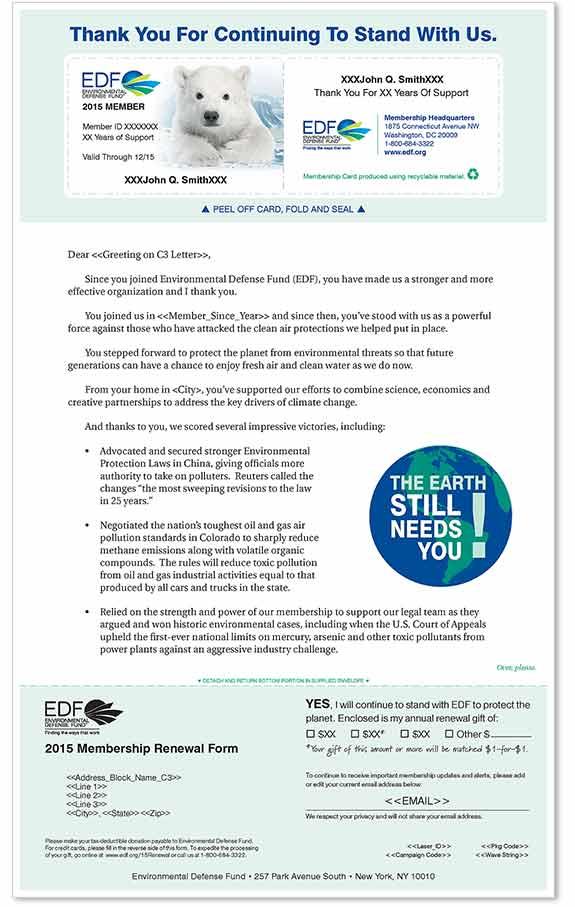 Non-profit Membership Renewal Letter