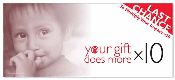 Non-profit Matching Gift Campaign Outer Envelope