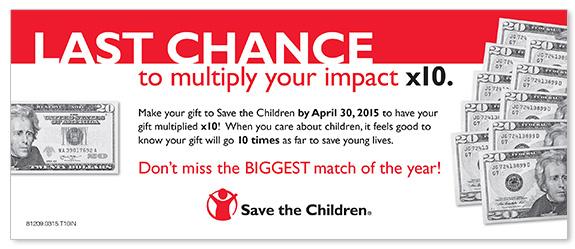 Non-profit Matching Gift Campaign Buckslip