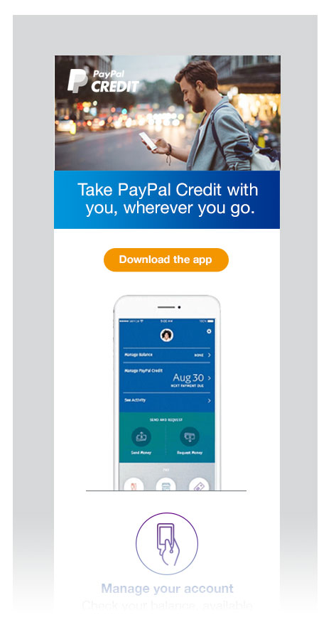 PayPal emails; mobile view