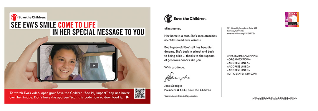 Save the Children Country brochure and Write to Your Child Insert